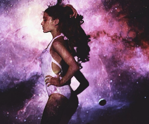 ariana grande, ariana, and galaxy image