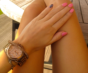 legs, nails, and summer image
