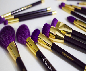 make up, makeup, and purple image
