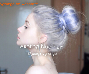 blue, dyed hair, and fashion image