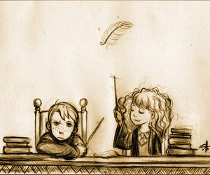 books, harry potter, and hermione image