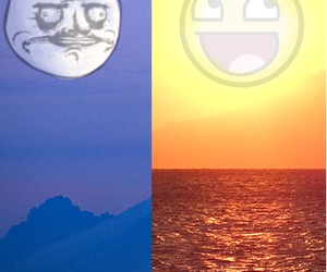 beach, day, and moon image