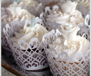 cupcakes, lace, and roses image