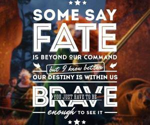 quote, brave, and disney image