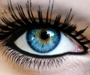 blue, eye, and eyes image