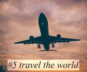 airplane, 100 things, and travel the world image