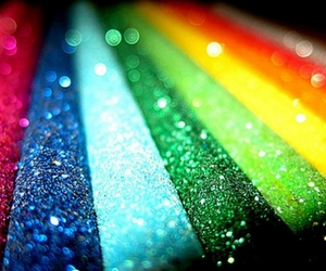 rainbow, colors, and glitter image