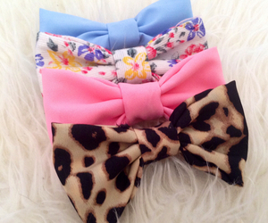 bow, pink, and accessories image