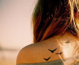 back tattoo, stella teixeira, and bird image