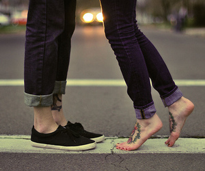 shoes, love, and tattoo image