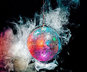 smoke, disco ball, and disco image