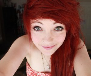 girl, red hair, and piercing image