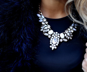fashion, necklace, and diamond image