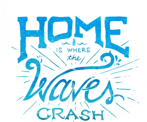 quote, home, and ocean image