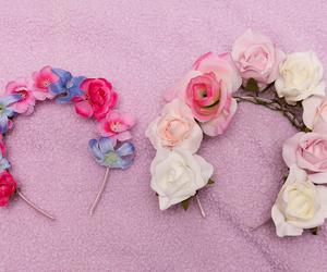 flower crown, kawaii, and summer image