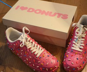 donuts, shoes, and pink image