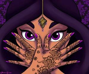 jasmine, disney, and henna image