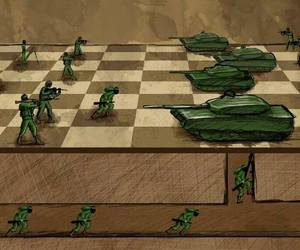 army, chess, and Gaza image