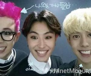 grin, kfashion, and pink hair image