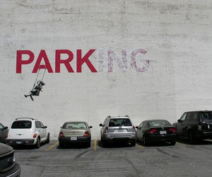 parking, park, and art image