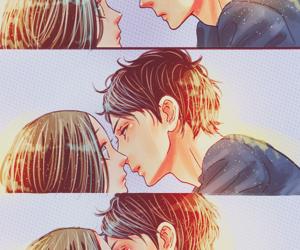 hirunaka no ryuusei, kiss, and manga image