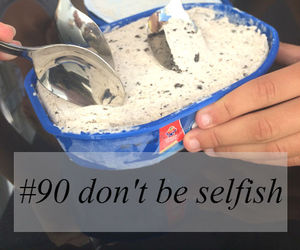 selfish, share, and must do image