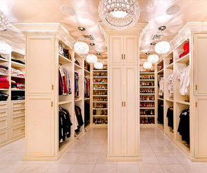 closet, clothes, and shoes image