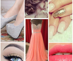 dress, hairstyle, and makeup image