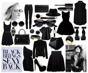 black, clothes, and design image