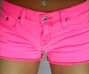 pink, neon, and belly button image
