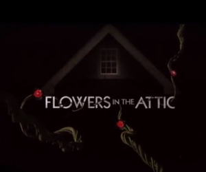 creepy, flowers, and house image