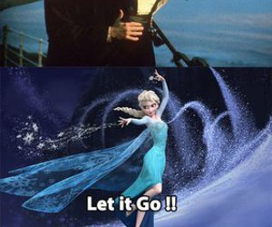titanic, frozen, and funny image