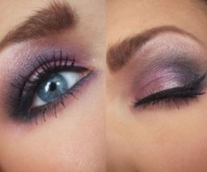 eyes, makeup, and smokey eyes image