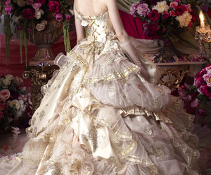 fashion, gold, and gowns image