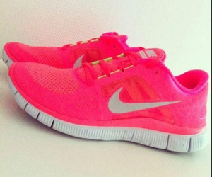 pink nikes girly image