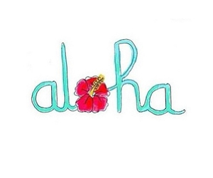 Aloha, overlay, and transparent image