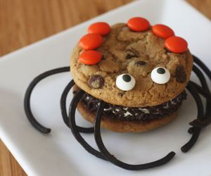 cookie, spiders, and cream image