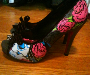 heels, roses, and cute image