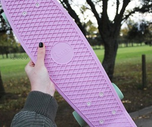 tumblr, pastel, and penny board image
