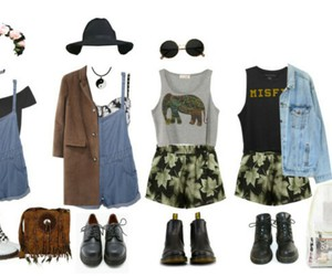 boots, overalls, and Polyvore image