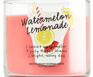 candle, bath and body, and lemonade image
