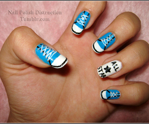 nails, all star, and blue image