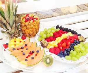 bowl, food, and fruit image