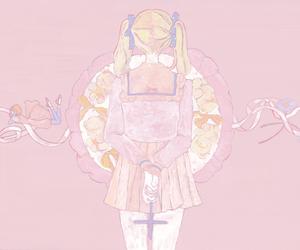 illust, pink, and 女の子 image