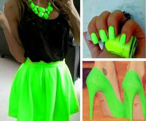 green, neon, and nails image