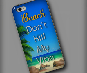 beach, phone, and case image