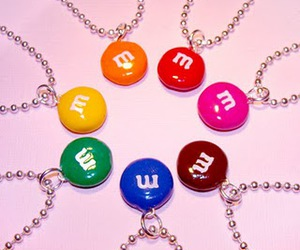 m&m, necklace, and yellow image