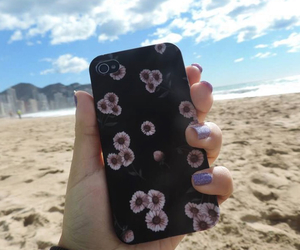 beach, black, and case image