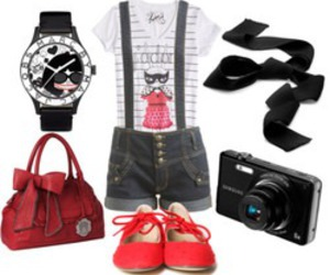 bags, flats, and red image