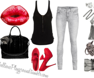 accessories, black, and high heels image